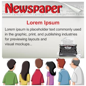 Publiczny - gazetowy szablon wiadomości