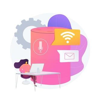 Publiczny hotspot. zdalny dostęp do komputera. fala sygnałowa. domowe wifi, łącze internetowe, miejsce na router. odbieranie i wysyłanie poczty. udostępnianie łącza. ilustracja wektorowa na białym tle koncepcja metafora.