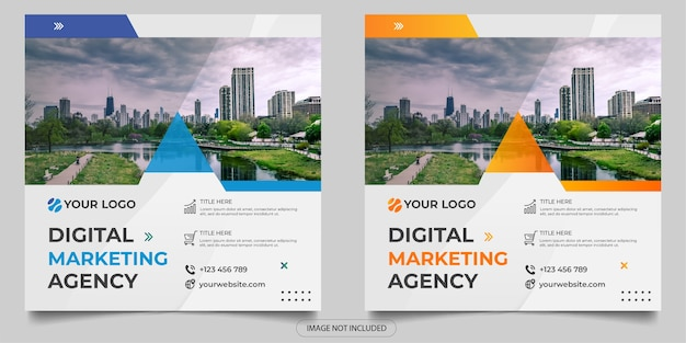 Publikacja w mediach społecznościowych agencji marketingu cyfrowego