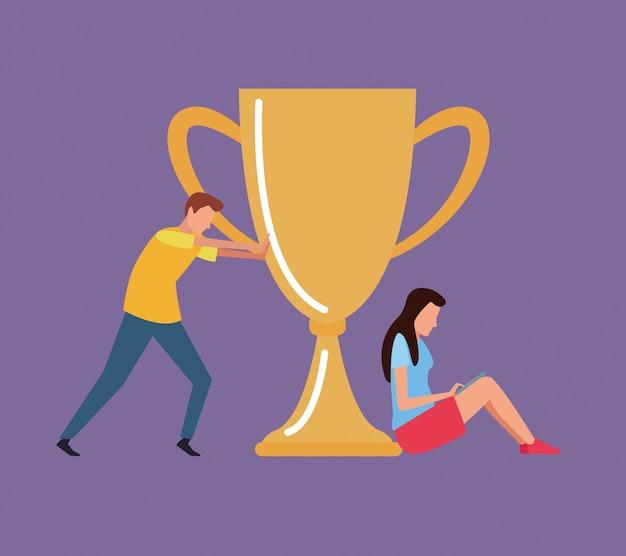 Puchar nagrody pracy zespołowej