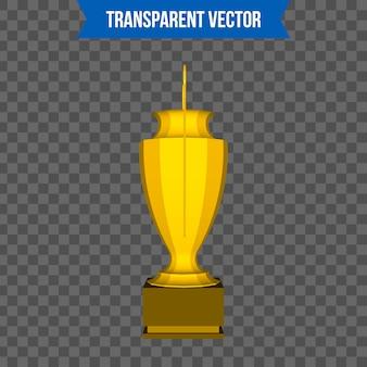 Puchar puchar izometryczny styl 3d szablon.