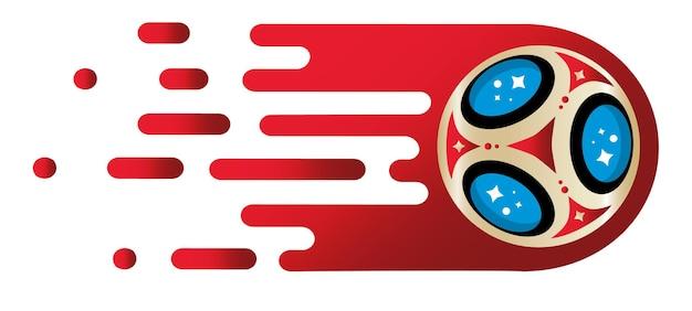 Puchar świata w piłce nożnej na białym tle plakat piłka nożna szablon