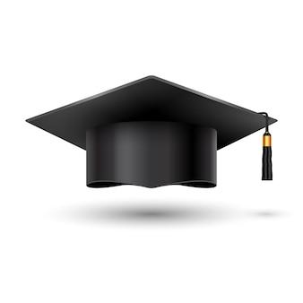 Puchar uniwersytetu ukończenia edukacji na białym tle