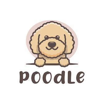 Pudel pies ładny logoo