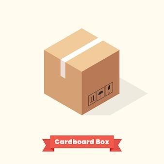 Pudełka kartonowe izometryczne. ilustracja wektorowa