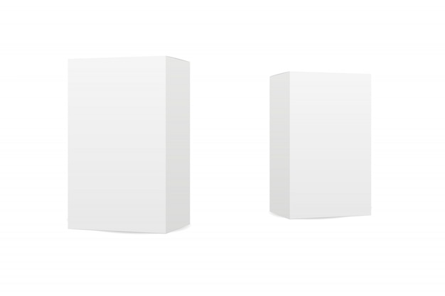 Pudełka na białym tle