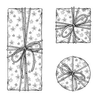 Pudełka na prezenty świąteczne.