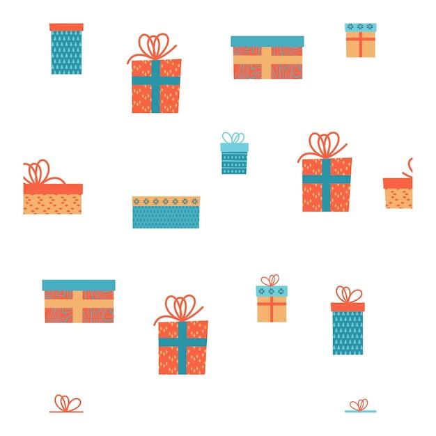 Pudełka na prezenty. wzór.