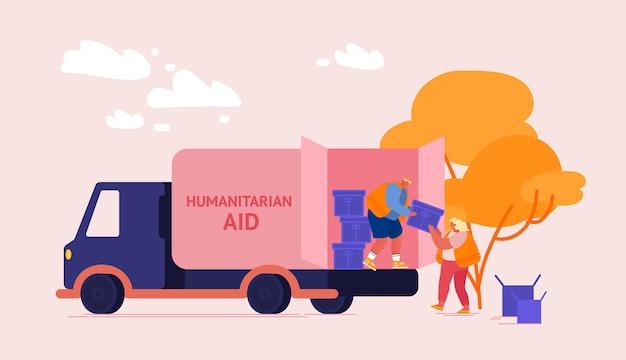 Pudełka rozdają wolontariusze