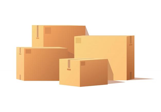 Pudełka z ilustracją taśmy klejącej