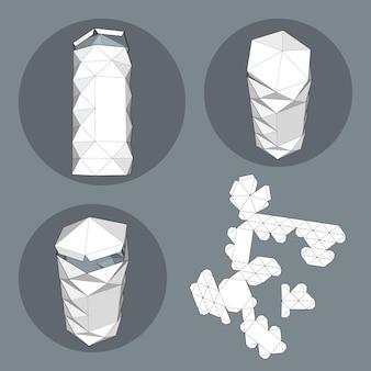 Pudełko do pakowania na żywność, prezent lub inne produkty. na białym tle odizolowywającym. gotowy na twój projekt.