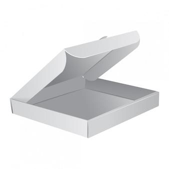 Pudełko do pakowania pizzy. realistyczna ilustracja