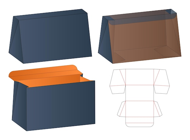 Pudełko do pakowania wycinane szablon projektu 3d