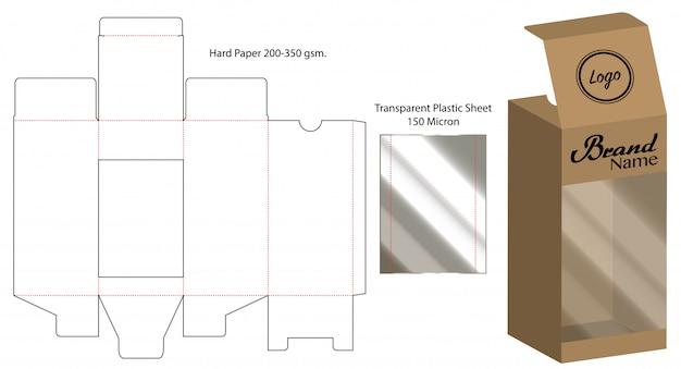 Pudełko do pakowania wycinane szablon projektu