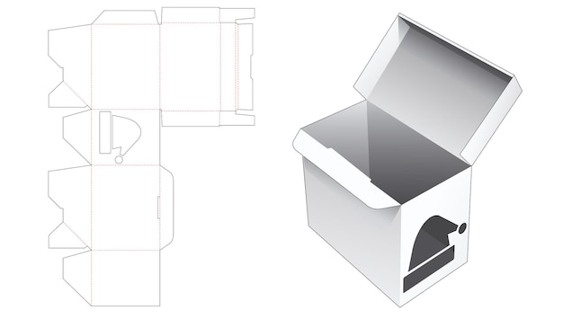 Pudełko do pakowania z automatycznie blokowanym punktem i szablonowym szablonem wycinanym świątecznym kapeluszem