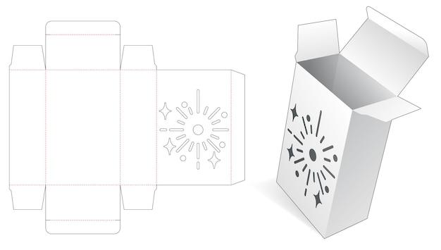 Pudełko do pakowania z szablonowym wycinanym szablonem fajerwerków