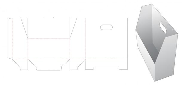 Pudełko do przechowywania dokumentów z szablonem wycinanym uchwytem
