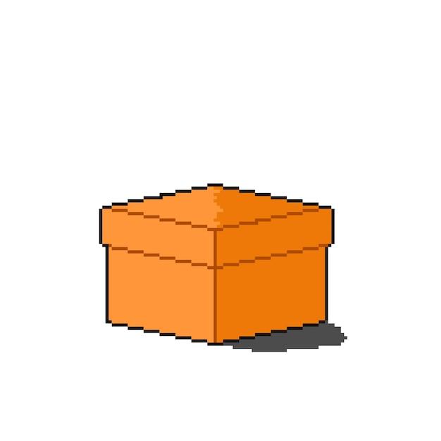 Pudełko dostawcze w stylu pixel art z nakrętką