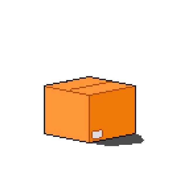 Pudełko dostawy w stylu pixel art