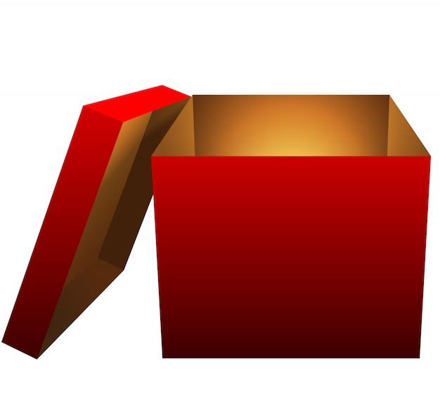 Pudełko na białym tle