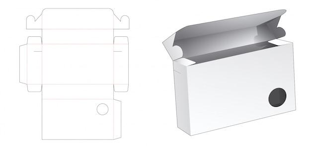 Pudełko na dokumenty z szablonem wycinanym w kształcie koła
