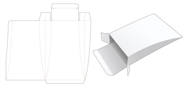 Pudełko na poduszkę z wykrojonym szablonem