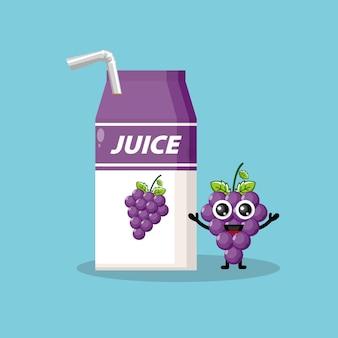 Pudełko na sok winogronowy urocza maskotka postaci