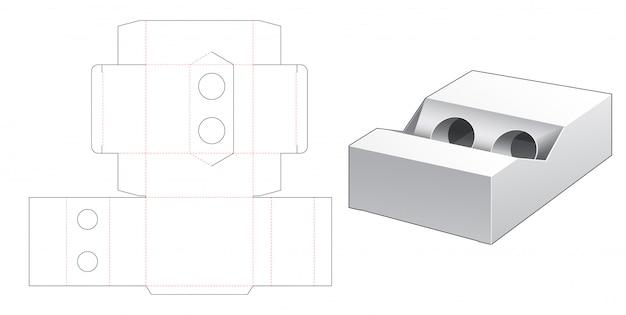 Pudełko na szablon wycinany cylindrycznie