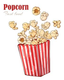 Pudełko popcorn.
