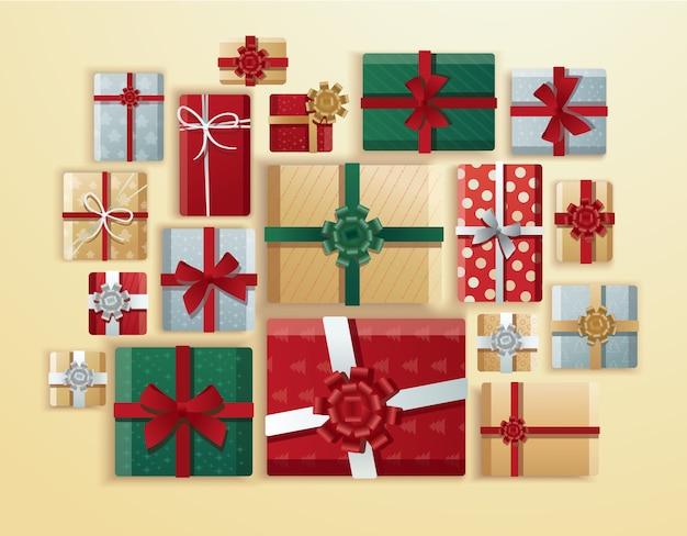 Pudełko prezentowe o tematyce bożonarodzeniowej