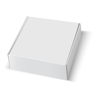 Pudełko puste białe kartonowe opakowanie kwadratowe