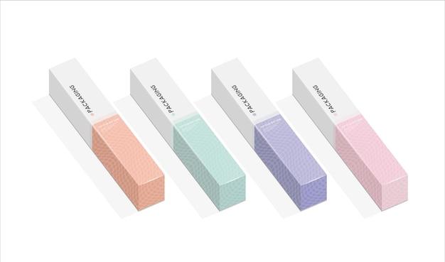 Pudełko, szablon opakowania do ilustracji projektu wektor produktu.