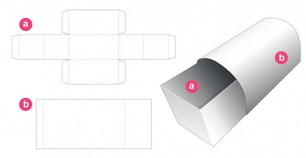 Pudełko w kształcie klatki piersiowej i szablon wykrojnika