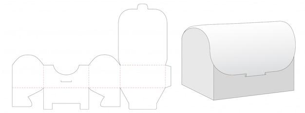 Pudełko w kształcie klatki piersiowej wycinane szablonem