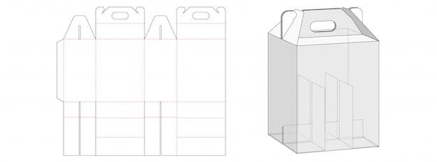 Pudełko z szablonem dzielnika