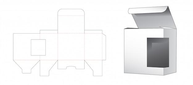 Pudełko z szablonem wycinanym w oknie bocznym
