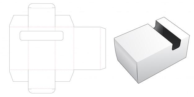 Pudełko z szablonem wycinanym w oknie