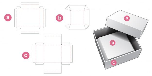 Pudełko z szablonem wycinanym z wkładką fazowaną