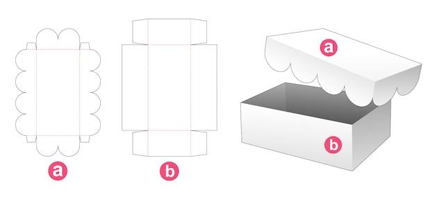 Pudełko z wyciętym szablonem okładki