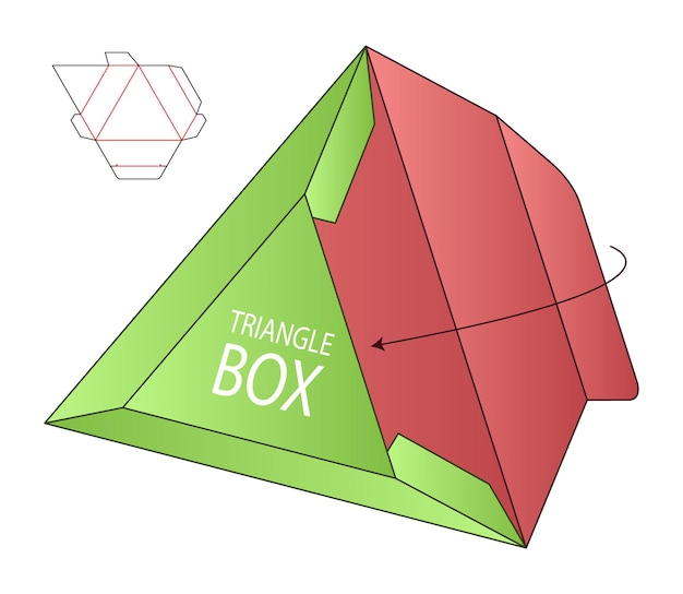 Pudełko z wycinanym szablonem projekt makieta 3d