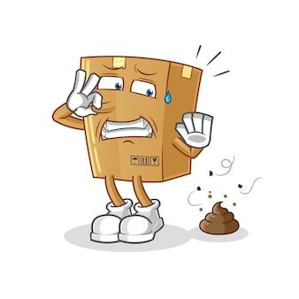 Pudełko ze śmierdzącymi odpadami.