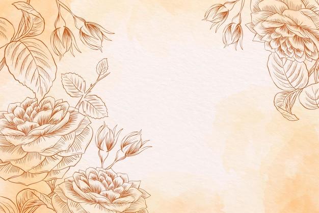 Puder pastelowy z ręcznie rysowane elementy tła