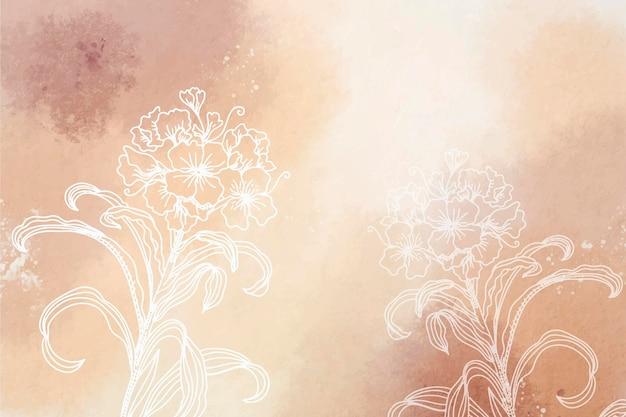 Pudrowy pastel z ręcznie rysowane elementy tła