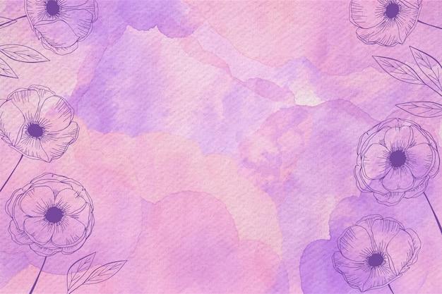 Pudrowy pastel z ręcznie rysowanymi elementami