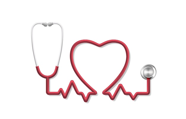 Puls serca stetoskopu, diagnostyka medyczna narzędzia, znak zdrowia