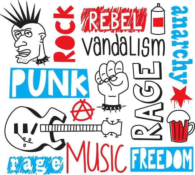 Punk rock doodle