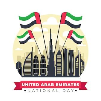 Punkt orientacyjny dnia świętowania zjednoczonych emiratów arabskich