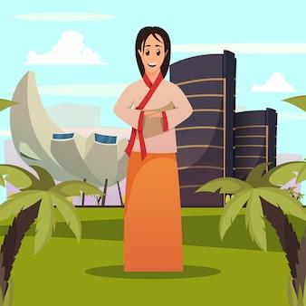 Punkt orientacyjny kobiety z singapuru