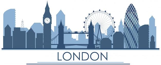 Punkt orientacyjny w londynie w kolorze niebieskim