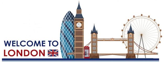 Punkt zwrotny w londynie na białym tle